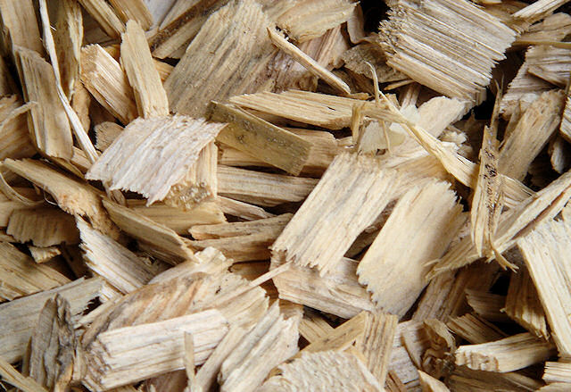 Plaquette forestière, bois déchiqueté