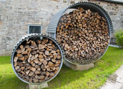 stockage bois de chauffage
